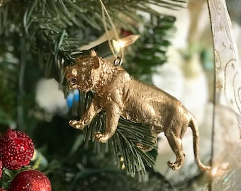 Tiger Ornament, Christmas Ornaments, Home Decor, Holiday
