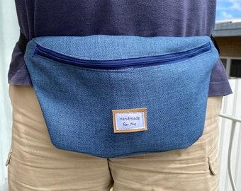 Blue Bum bag, Fanny Pack, Festival bag, waist bag, bumbags for Men, Belt Bag, Gifts for Him