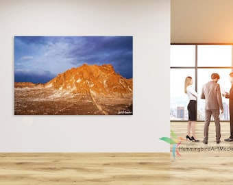Canvas Wall Art Mockup Template (Styled Stock Photography