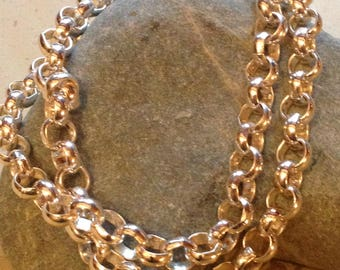 chain bracelet, chain necklace, convertible chain jewelry, double strand bracelet, silver chain bracelet
