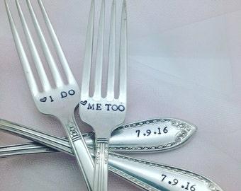 Star Wars themed Wedding Forks Hand Stamped Wedding Forks