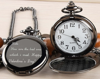 2c128a21c9170 Pocket Watch Engraved photo Anniversary Personalized Gift Custom Pocket  Watch -Birthday Gift Valentine s day gift for him  husband  Dad