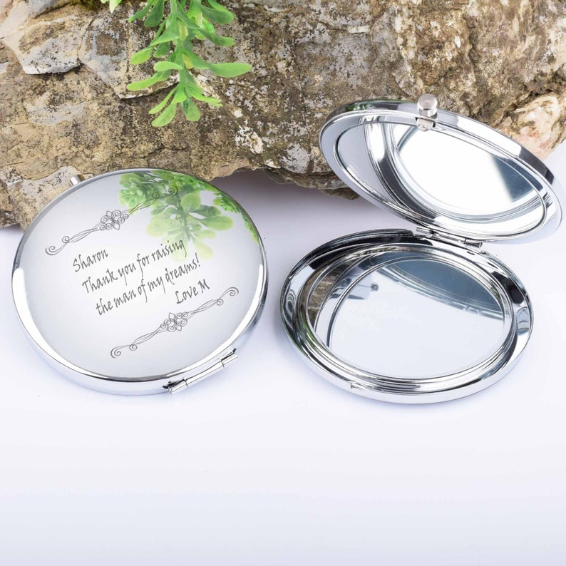Customized Mirror Purse Mirror,Birthday Gifts,Christmas Gifts Personalized Bridesmaids Gifts Personalized Compact Mirror