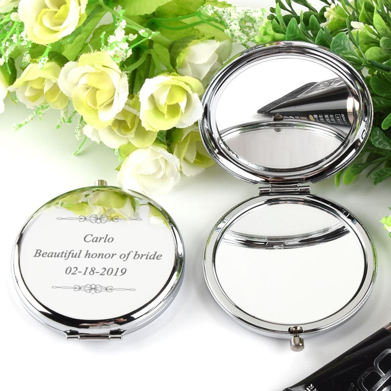 ea4e8c88485 Personalized Engraved Compact Mirror Purse Pocket mirror