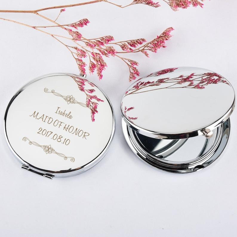 fd7fff92854 Compact Mirror personalize engraved Pocket mirror Purse
