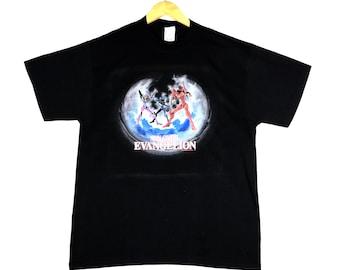 d94c09a65081 vintage 90s neon genesis evangelion eva 01 02 japan japanese robot anime  manga big image promo t-shirts