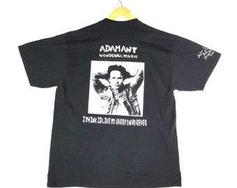 cbf70e55 vintage 90s 1995 adam ant wonderful tour album singles english rock singer  songwritter big image punk icon glam sexy promo t-shirts