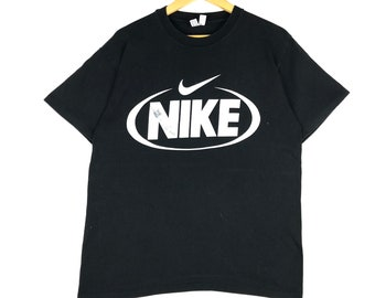 b0b642e7 vintage 90s nike swoosh big logo made in usa sport hip hop style swagger  rocky promo t-shirts