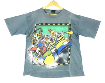3fb2dbd08ccfe2 vintage 90s 1996 warner bros bugs bunny acme rugged movie film cartoons  promo t-shirts