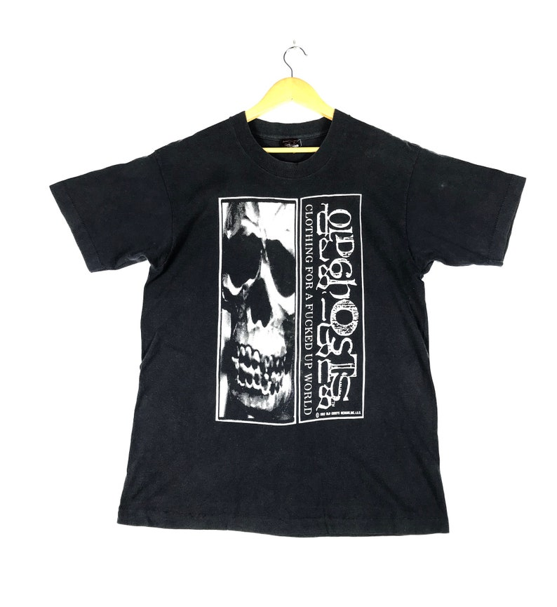 8f2dd304a894e vintage 90s 1993 old ghost design you don't even know big image skull skate  skateboard rare design powell thrasher smp promo t-shirts