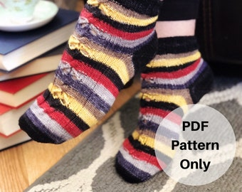 Holmes Sweet Holmes Socks Knitting Pattern PDF Digital Download Only