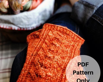 Orchard Spice Mitts Knitting Pattern Digital Download