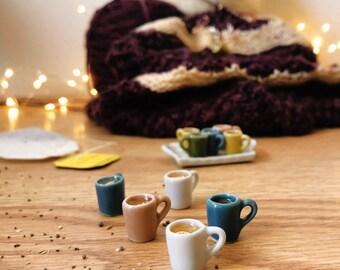 Herbal tea mug with lemon