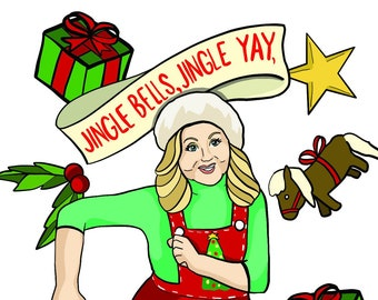 LESLIE KNOPE Parks & Rec Holiday Card