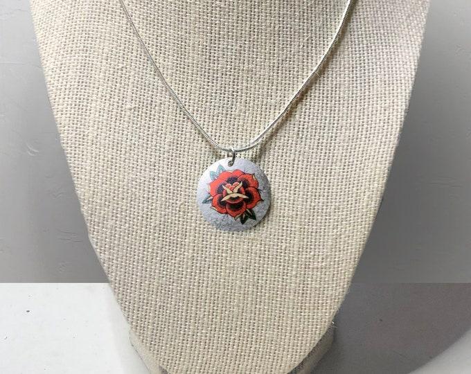 Sailor's Rose Necklace