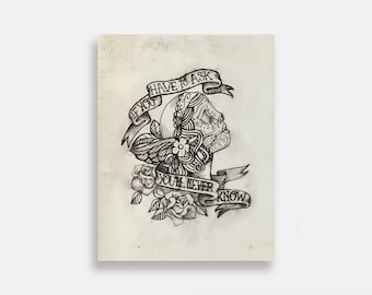 If You Have to Ask - Illustration Art Print American Neo Traditional Tattoo