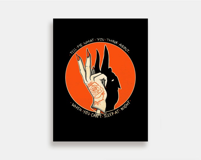 Shadow Puppets - Illustration Art Print American Neo Traditional Tattoo