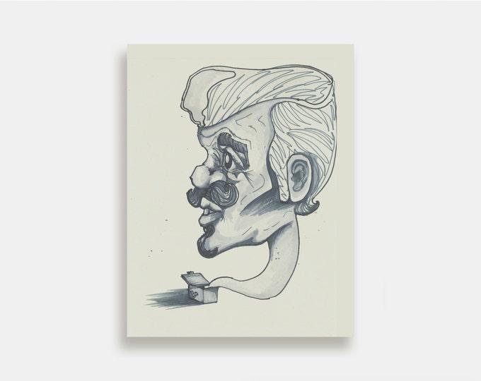 Boom Box - Trippy Art Print Illustration