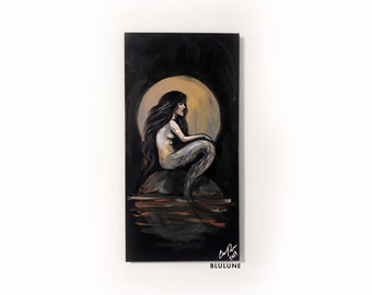 Siren Night - Acrylic Painting - Mermaid