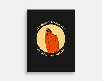 For the Devil - Illustration Art Print American Neo Traditional Tattoo