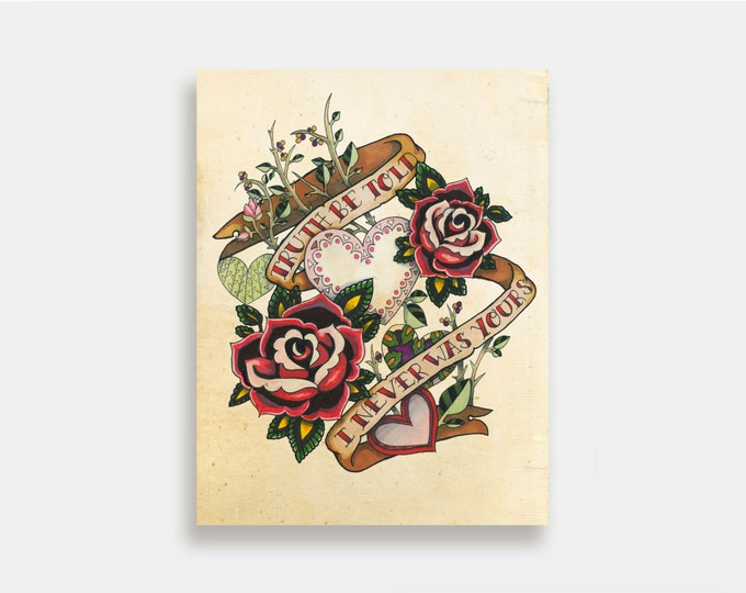 This is Gospel - Illustration Art Print American Neo Traditional Tattoo