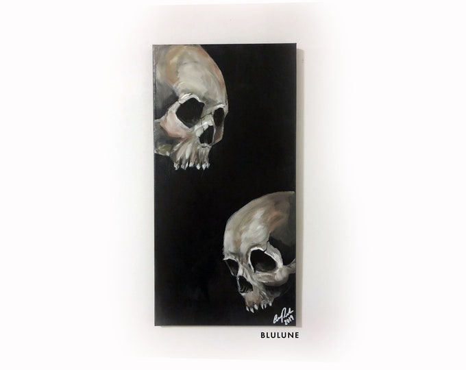 Together Again - Acrylic Painting - Skulls
