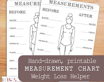 graphic regarding Printable Measuring Tape for Body called Physique sizes Etsy