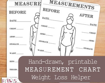 measurements chart etsy