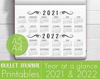 Calendrier 2022 Bullet Journal 2020 Calendar 2020 Desk Calendar 2020 Planner 2020 Bullet   Etsy