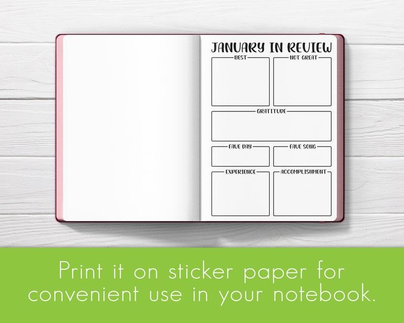 Monthly Calendar 2021 Bullet Journal Printable Planner   Etsy