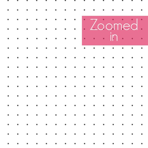 Printable Dot Grid Paper A5 Planner Insert Rhodia-Style 5mm | Etsy