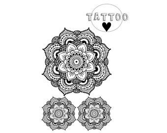Mandala Tattoo Etsy