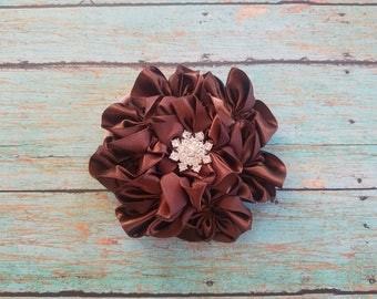"Satin 4"" Cluster Flowers on Nylon"
