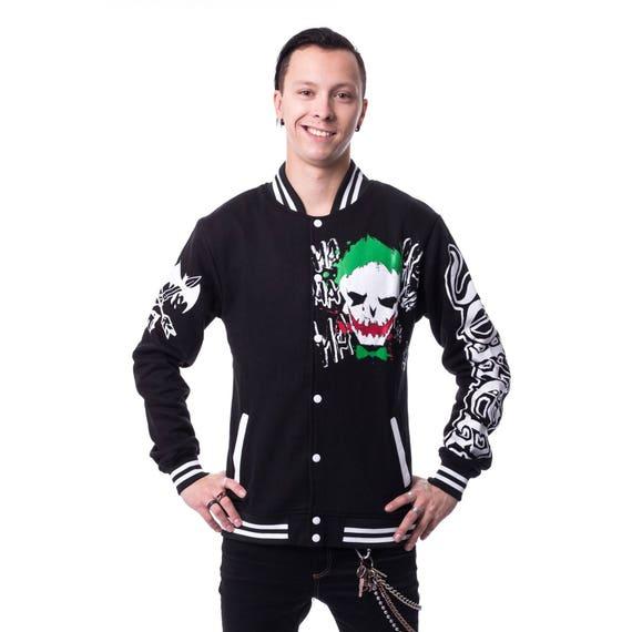 Varsity Jacket Squad Skull Etsy Suicide Men's Joker Head nwpqdgXS