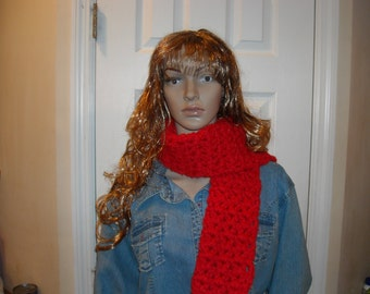Warm & Red Chunky scarf