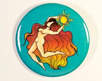 Sun Goddess Button