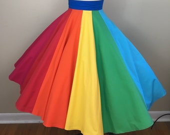896857db3e Rainbow Panel Circle Skirt