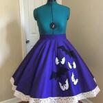 Ghostly Wallpaper Circle Skirt