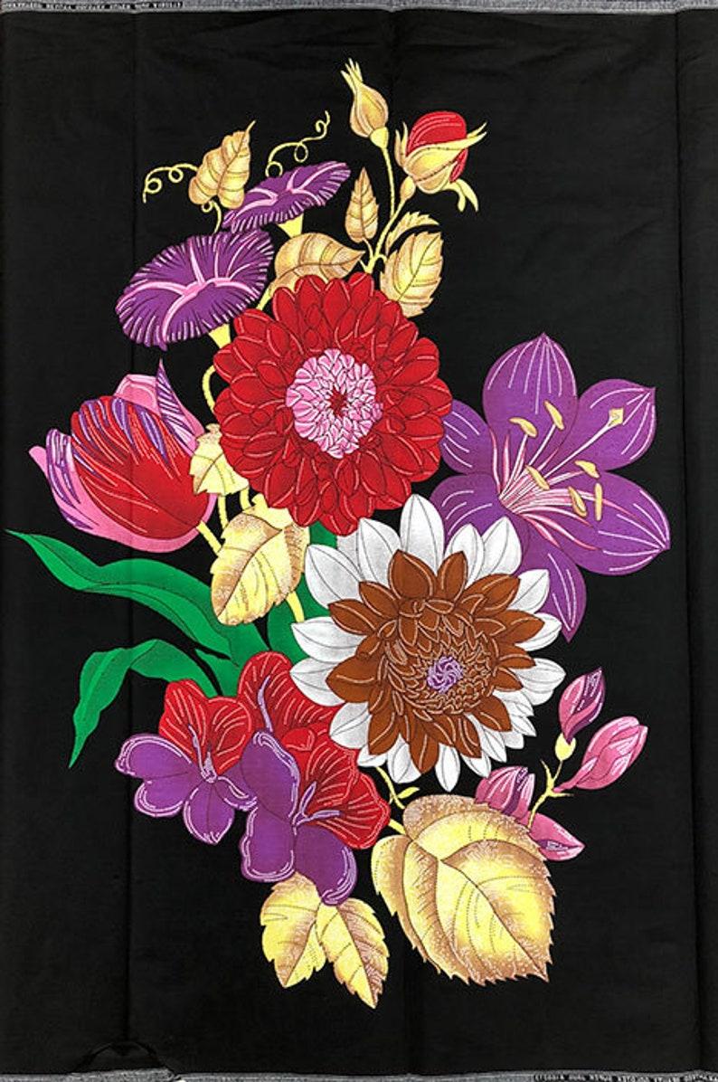 Ankara Prints 6 Yards Big Flower Print African High Wax Prints,100/% Cotton HIGH WAX African Print Fabric