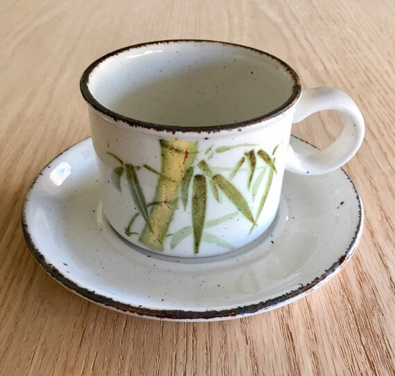"4 Midwinter Stonehenge Rangoon Bamboo Salad Dessert Plates 7/"""