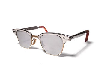 a6fe05a9c7 ... clearance vintage 1950s art craft clubmaster clubman chrome gold retro sunglasses  rayban a9740 2271f