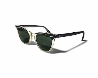 6a3f643deeb4 Vintage American Optical Brow Line Sunglasses 1950 s Cateye Mid Century  Modern
