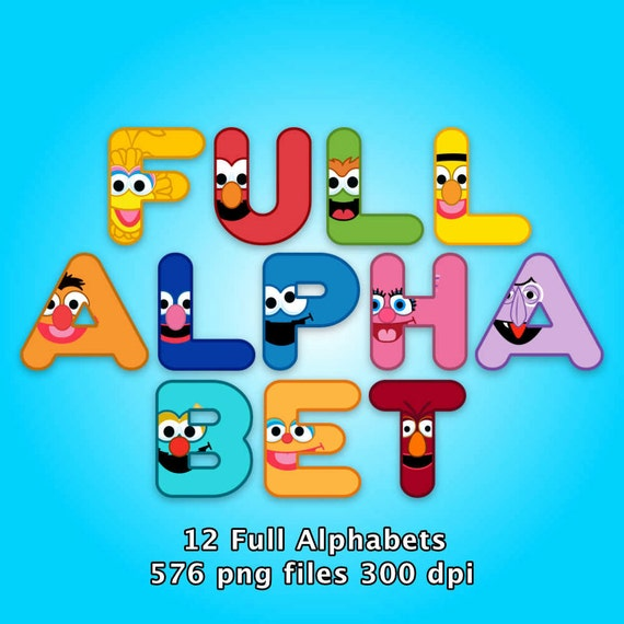 Sesame Street Alphabet Clipart 576 Png Files 12 Alphabets