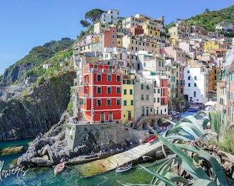 Cinque Terre photography- Riomaggiore, Cinque Terre print, Cinque Terre digital print, Italy print, Cinque Terre Wall Art, Italy wall art