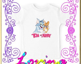 2f860dfc Tom and Jerry - custom gift unisex shirt kids T-shirt kids tshirt kids  clothing kids Youth kids t-shirts Clothes men women