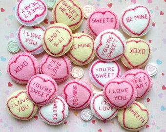 Felt Lovehearts