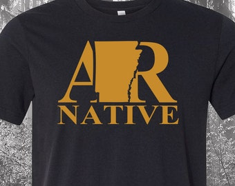 Black Arkansas Native Shirt, Native Arkansas Shirt, Arkansas Shirt, AR Shirt, Arkansas State Shirt