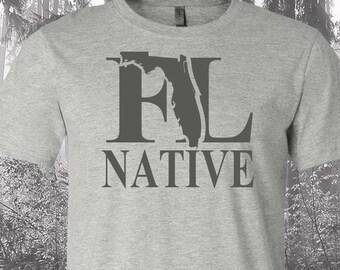 Florida Native Shirt, Native Florida Shirt, Florida Shirt, FL Shirt, Florida State Shirt