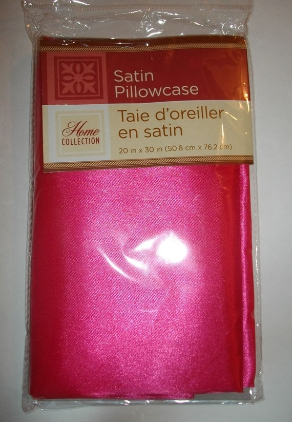 How Much Fabric To Make A Pillowcase Inspiration Hot Pink Satin Pillowcases Set Of 60 DIY Sewing Fabric Home Etsy