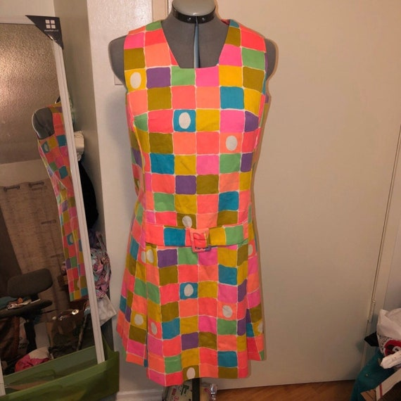 Malia Honolulu festive water color dress vintage 7